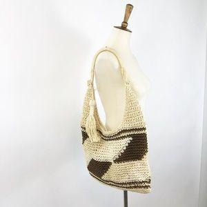 Handbags - Weaved Straw Boho Style Tote